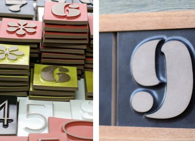 Curbsides just got a lot more chic with Heath Ceramics' new line of  handcrafted house numbers.
