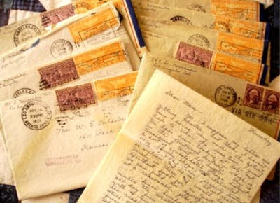 Letters in the mail
