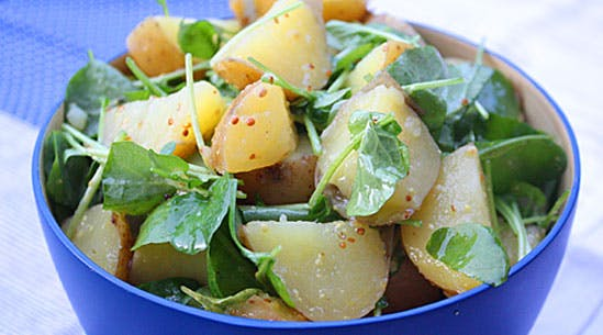 Potato-and-Watercress Salad with Mustard Dressing
