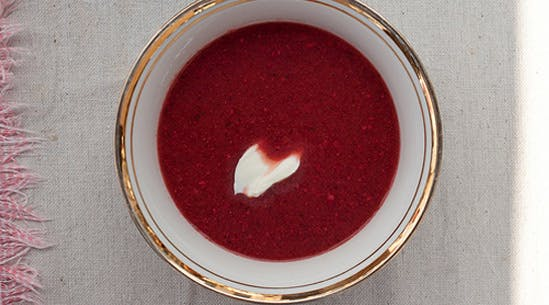 Chilled Spicy Strawberry Soup