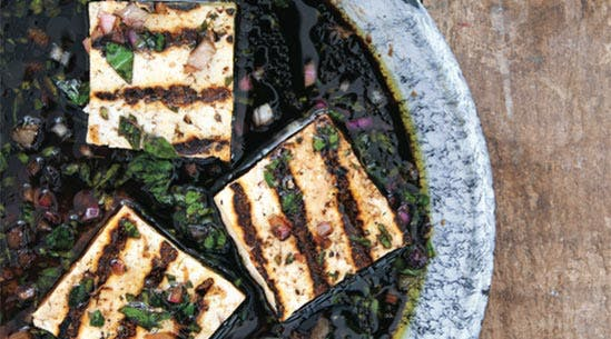 Tofu with Spicy Herb Marinade