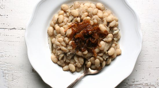 White Beans with Rosemary and Caramelized Onions