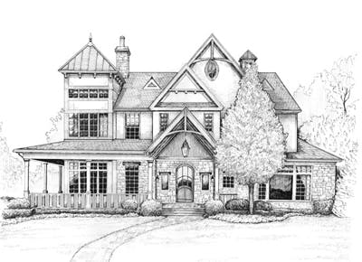 Commission a pen-and-ink drawing of your home