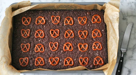 Pretzel Brownies