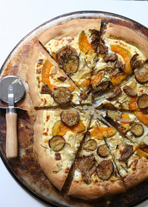 Roasted Veggie and Ricotta Pizza