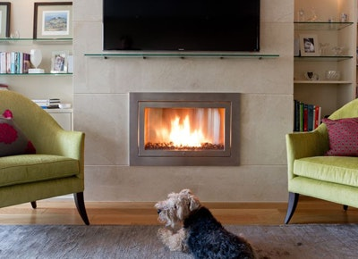 A Ventless Fireplace Will Make Over Your Entire Pad