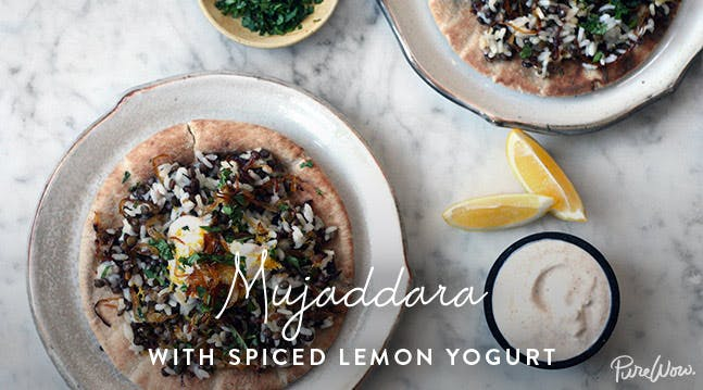 Mujaddara with Spiced Lemon Yogurt