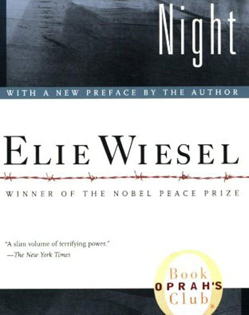 a review of the non fiction auto biography the night elie wiesel I will remind you again that the original night was published in 1960 categorized as judaica/literature in other words, fiction when the new translation came out in 2006, it was changed to autobiography/jewish interest it is now an autobiography of elie wiesel, with his picture on the back cover and a.