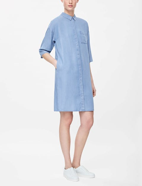 denim dress cos