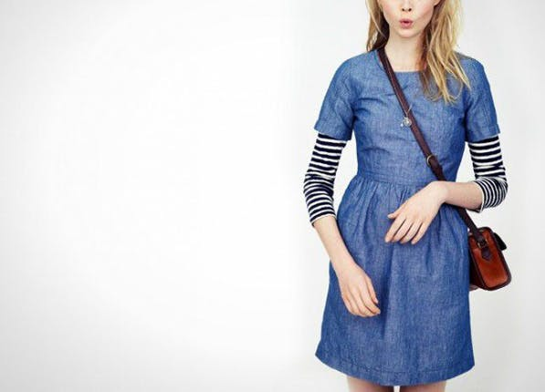denim dress layer