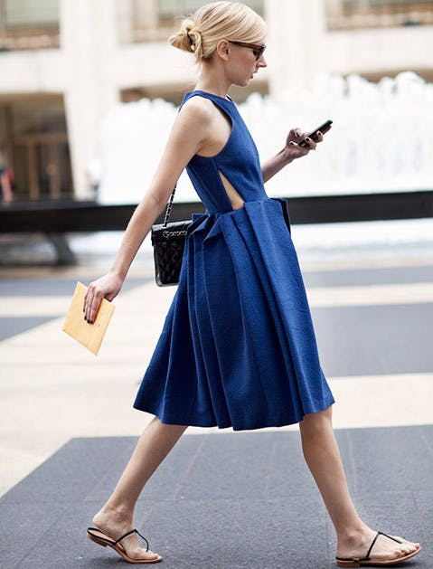 denim dress sartorialist