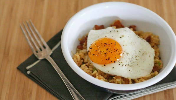 purewow bacon fried rice