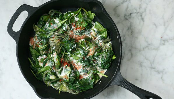 purewow coconut creamed spinach