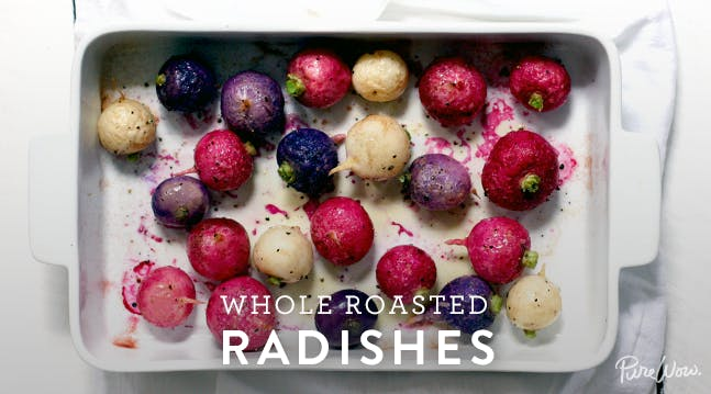 Whole Roasted Radishes