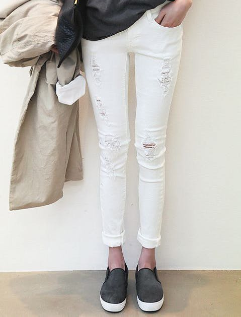white jeans 41