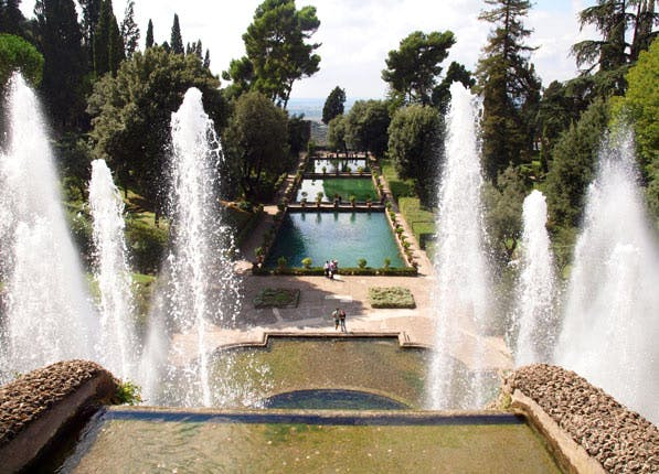beautiful gardens tivoli italy