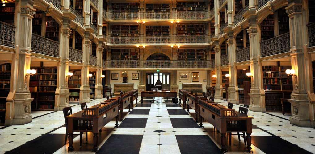 beautiful libraries peabody baltimore