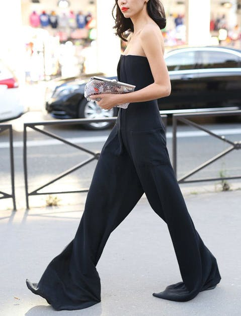 black summer clothes jumpsuit