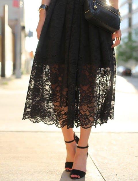 black summer clothes midi