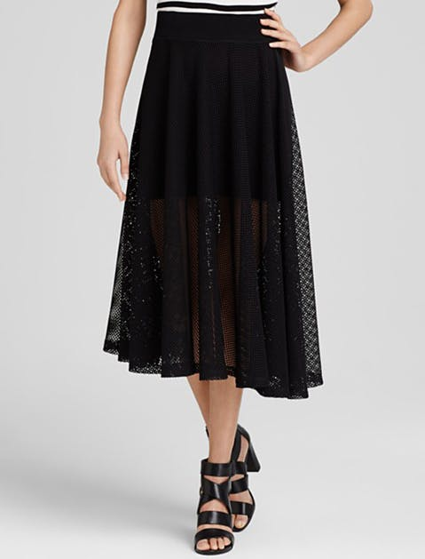 black summer clothes sheer midi