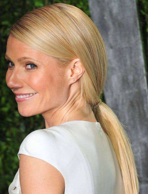 gwyneth paltrow ponytail