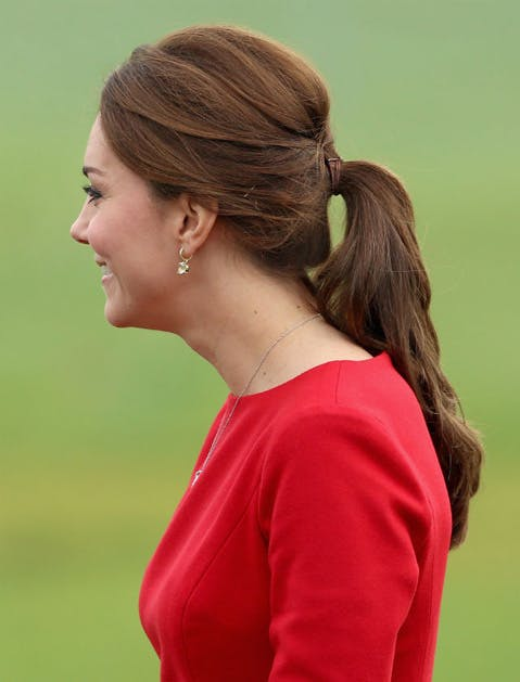 kate middleton ponytail