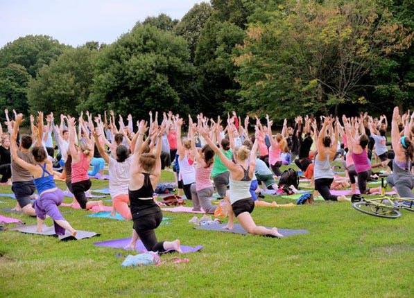 outdoor yoga prospect park