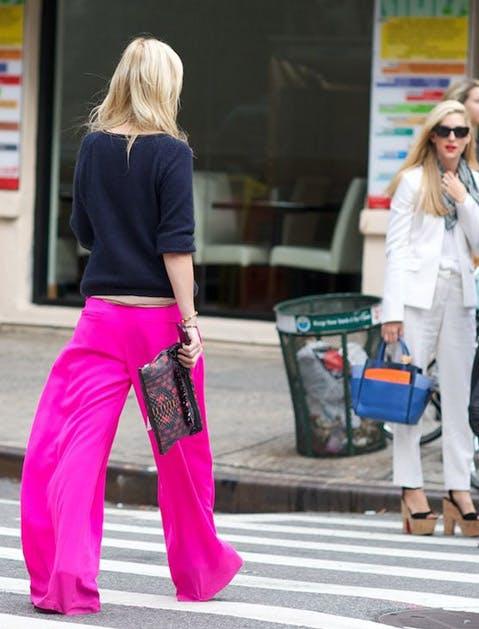 palazzo pants hot pink