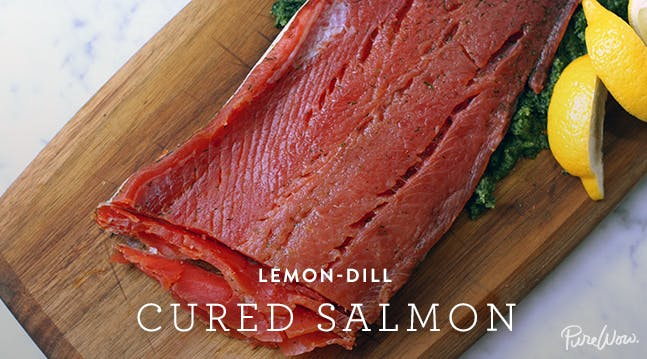 Lemon-Dill Cured Salmon