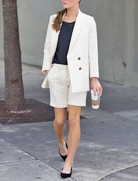 suiting shorts street style
