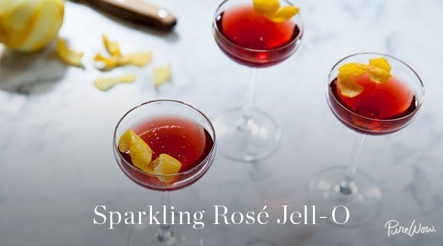 Sparkling Rosé Jell-O