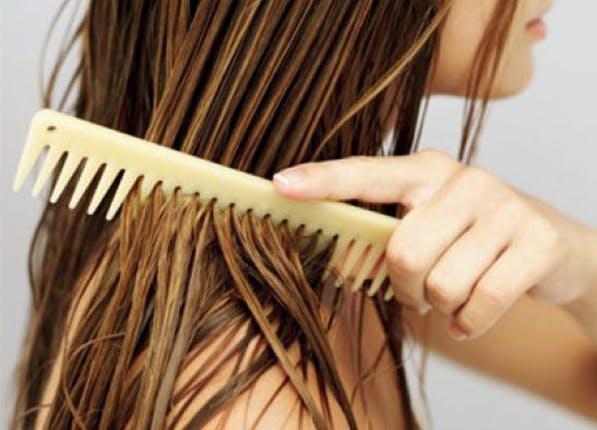 Brushing Hair When Wet