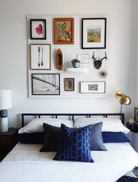 Peg Board Headboard