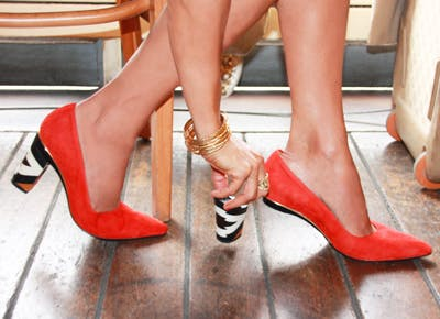 Gorgeous shoes with interchangeable heels
