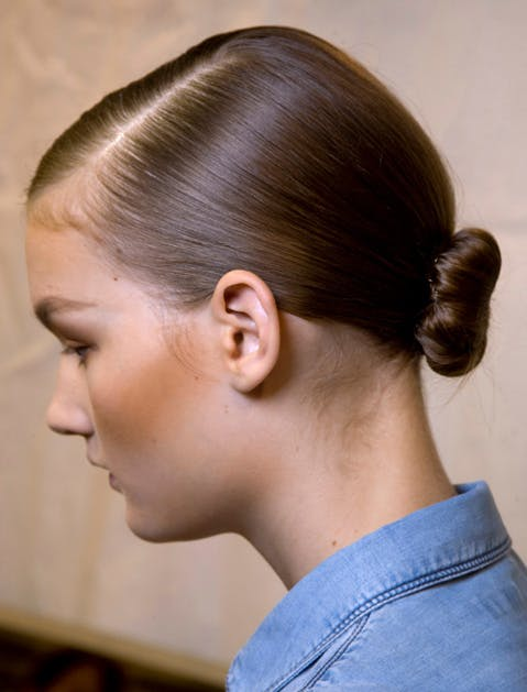 frizzy hair sleek bun