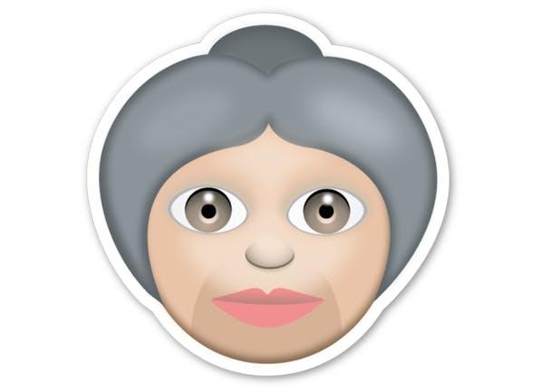 grandma emoji