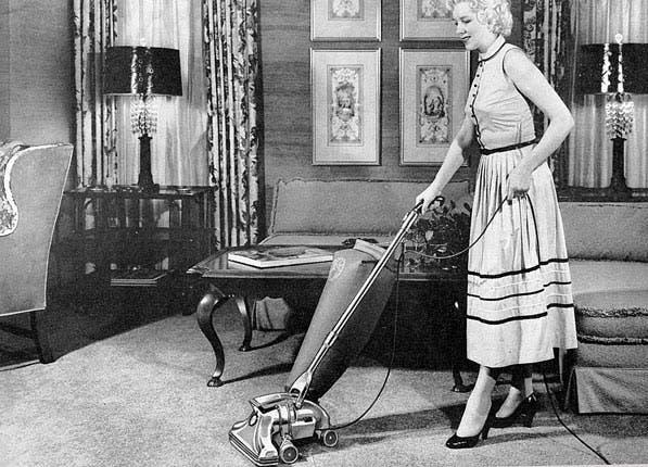grown woman vacuuming1