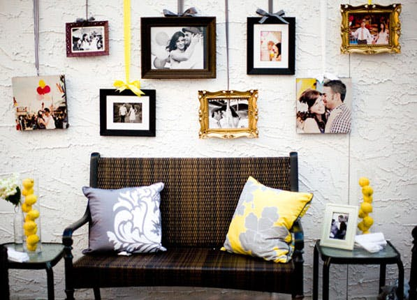 11 creative ways to hang art and photos home purewow national. Black Bedroom Furniture Sets. Home Design Ideas