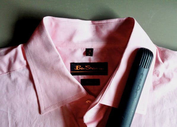flat iron your shirt collar