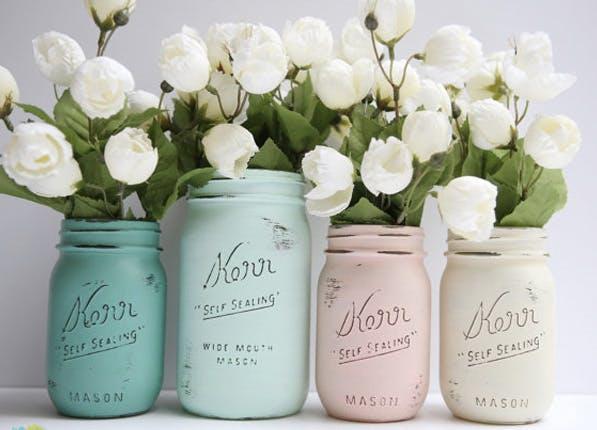 mason vases