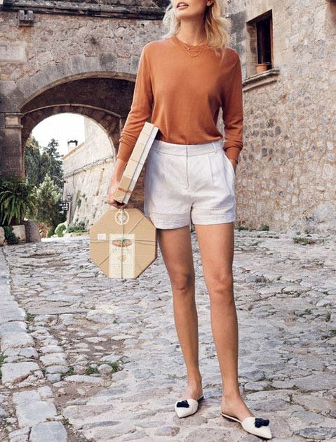 mules shorts