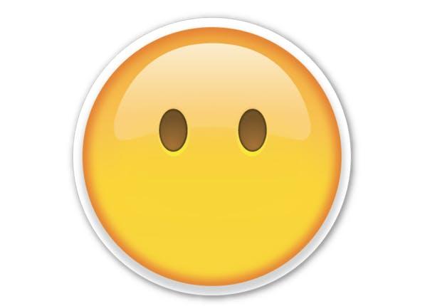no mouth emoji