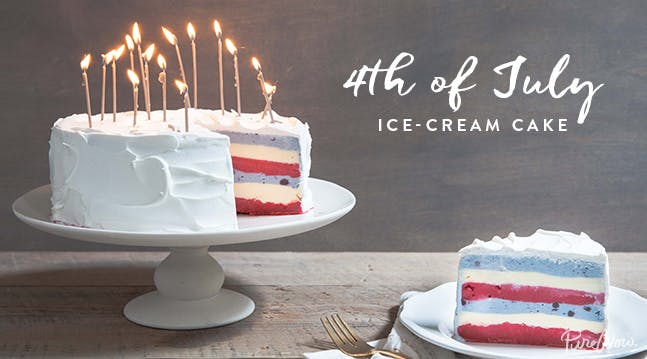 Fourth of July Ice-Cream Cake