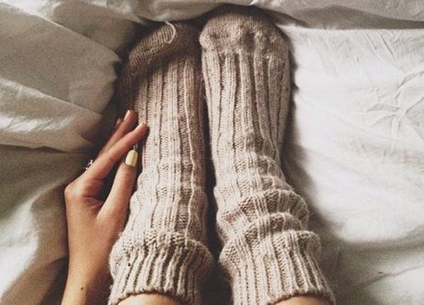 socks in heels