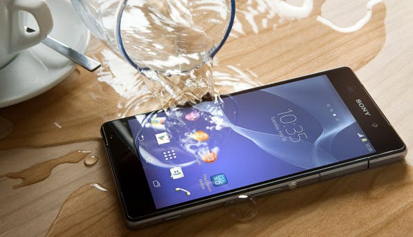 spills phone