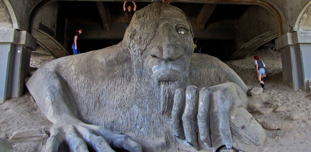 weird roadside attractions fremont troll