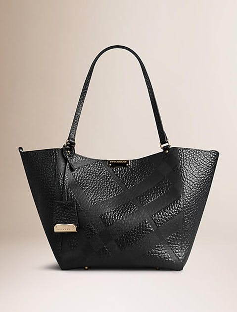 leather totes burberry