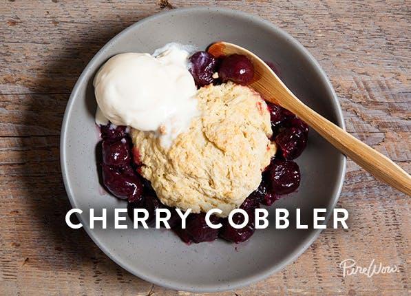 purewow cherry cobbler
