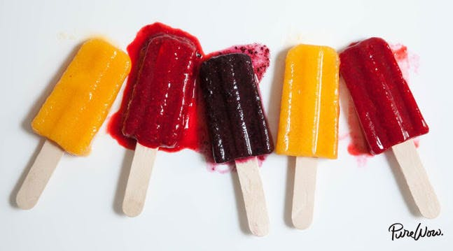 Fresh Fruit Ice Pops