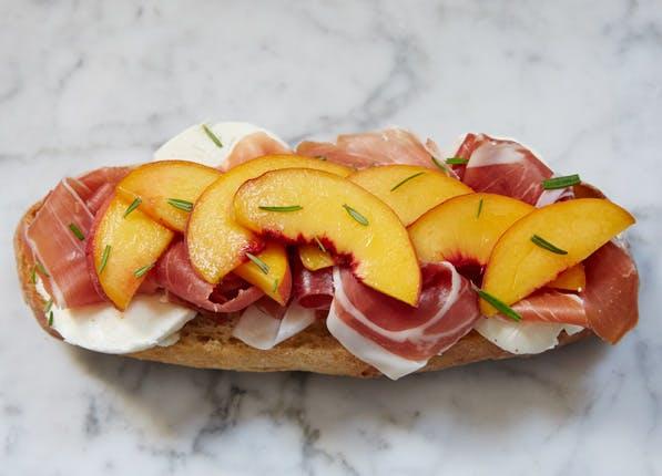 purewow peach sandwich
